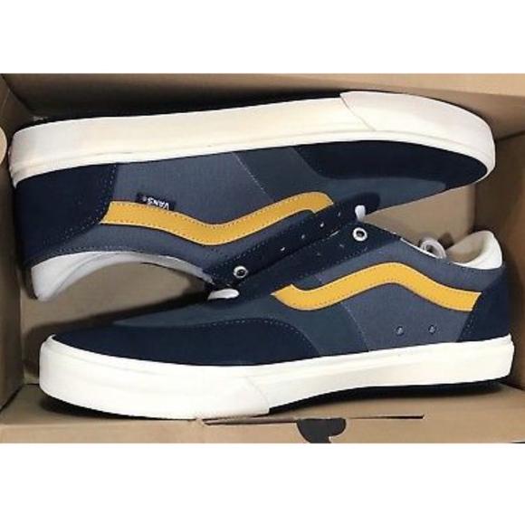 375d327f5d70b6 Vans Gilbert Crockett Antique Navy Shoes